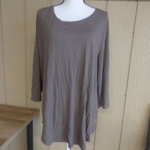 JM Collection Scoop Neck Casual Knit Top, XXL